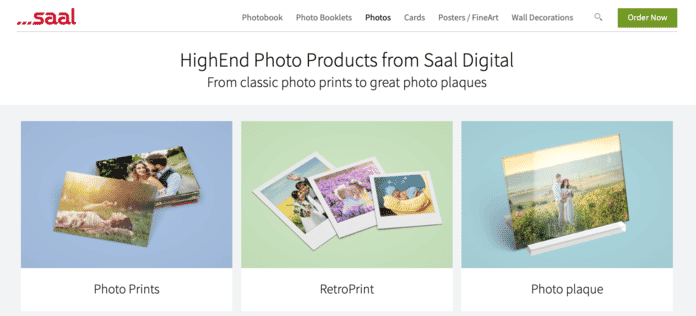 Saal Photo Prints Website Screenshot