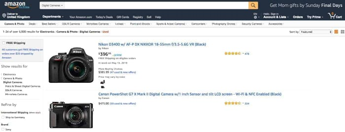 Amazon Buying Used Photography Gear Online