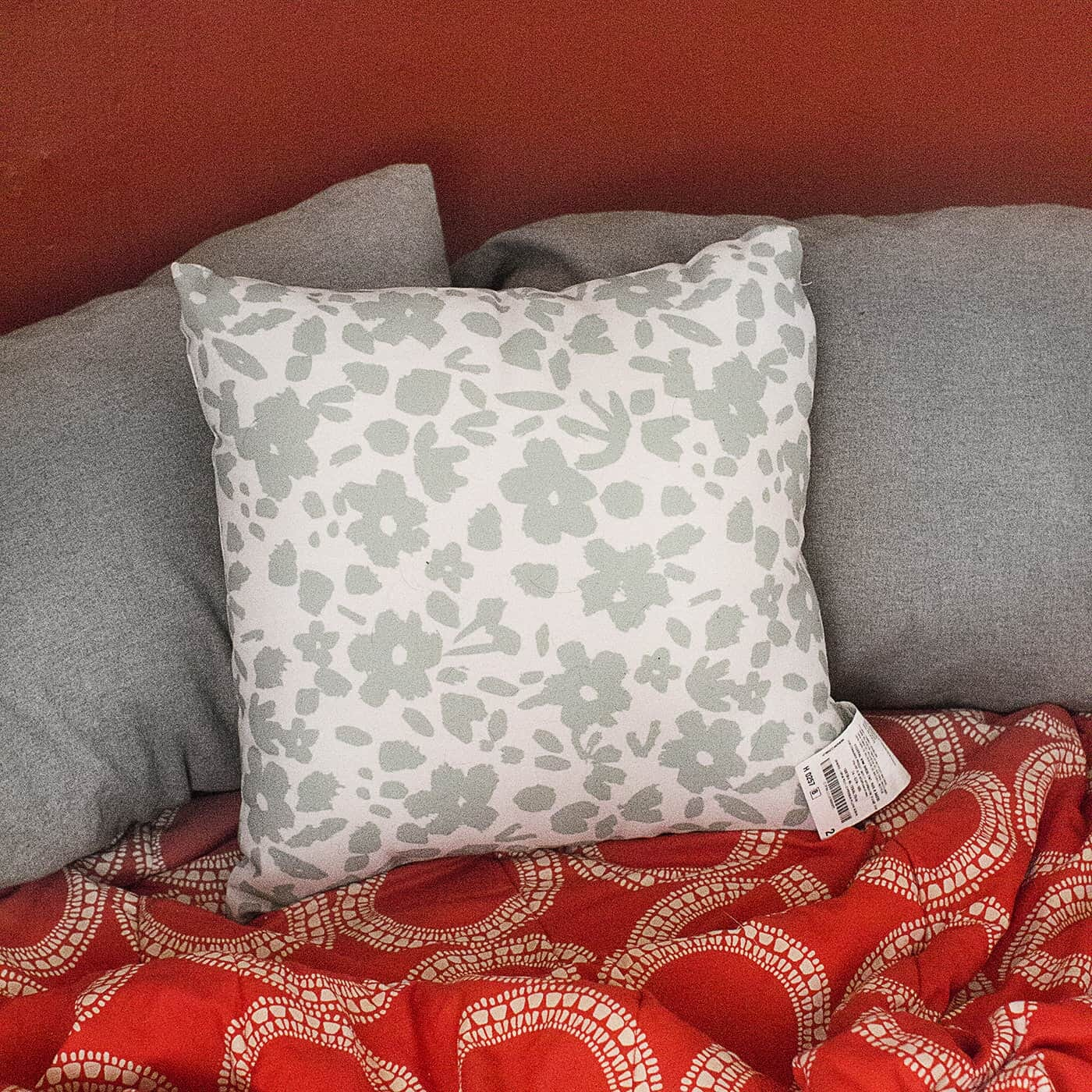 Patterned throw pillows