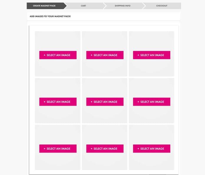 CanvasPop Magnet Creation Page