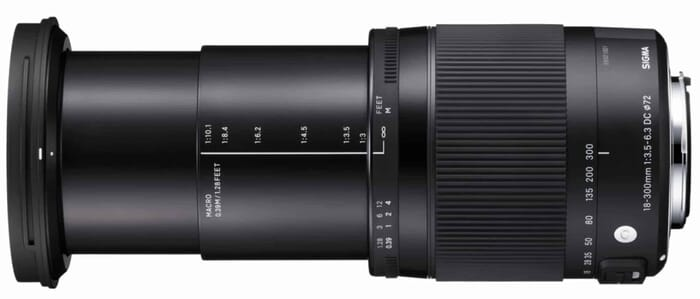 Sigma 18-300mm f/3.5-6.3 DC MACRO OS HSM Contemporary Lens for Nikon F