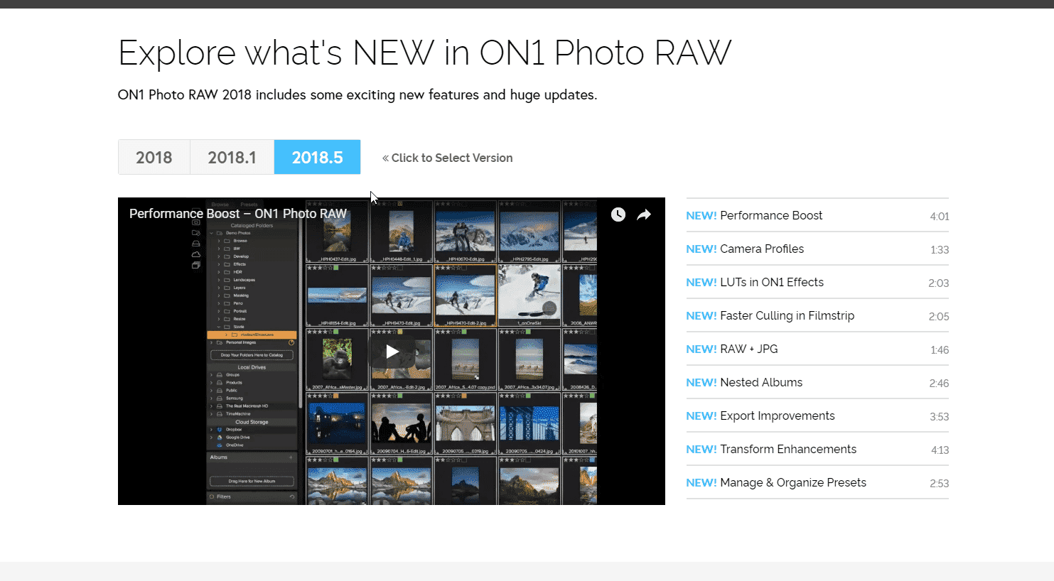 On1 Photo Raw photo organization tool for Windows