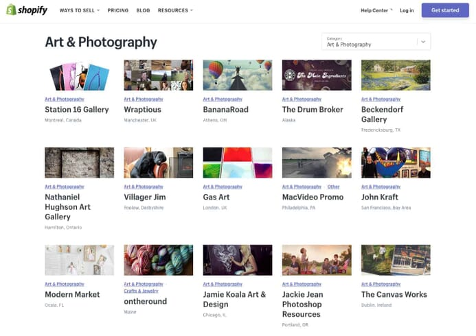 Learn how businesses use Shopify to sell Art & Photography products online.