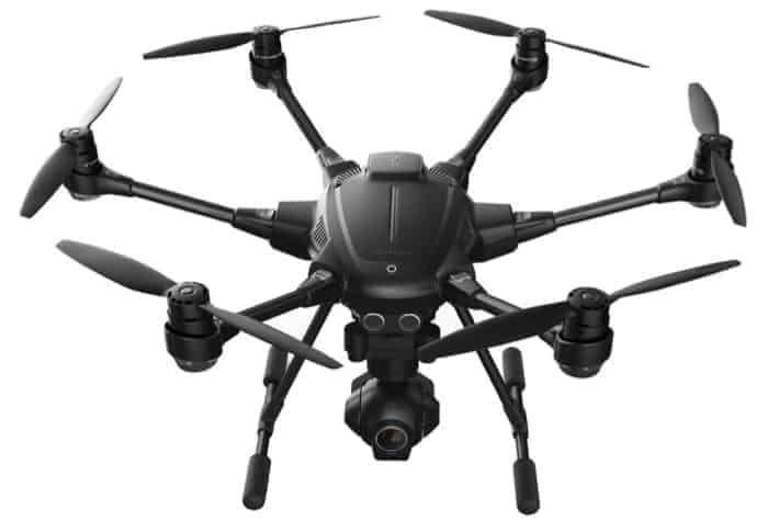 Également idéal pour la photographie immobilière: le Yuneec Typhoon H Pro avec la technologie Intel RealSense - Drone hexacoptère anti-collision 4K