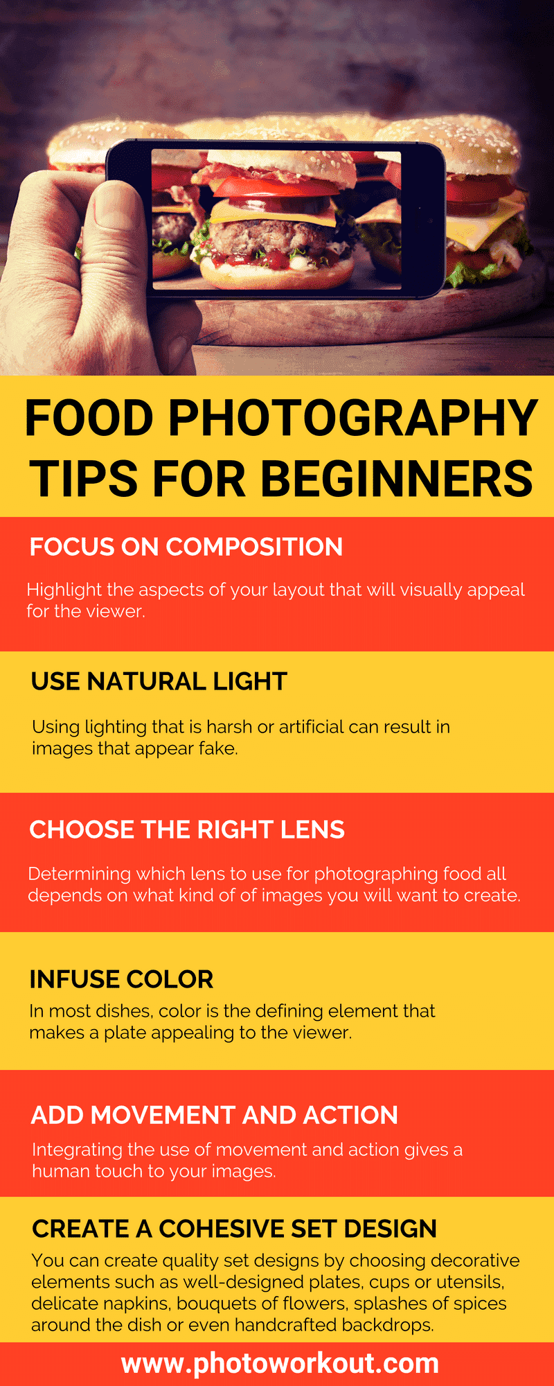 Food Photography for Beginners (Infographic)