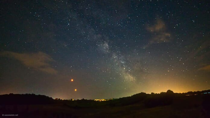 Blood Moon Milky Way in Luminar 2018 review