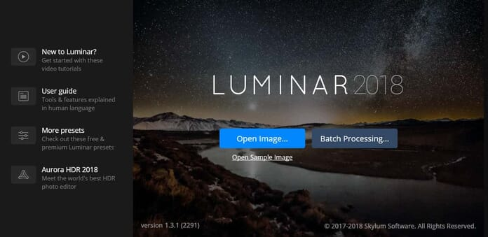 Luminar batch processing