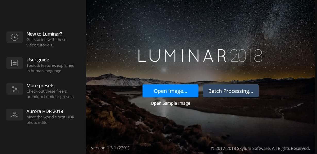 luminar 2018 trial