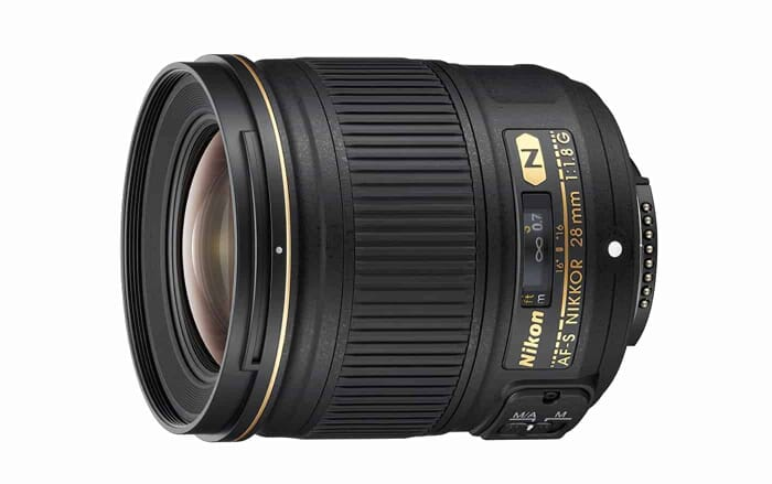 Nikon AF FX NIKKOR 28mm f/1.8G Compact Wide-angle Prime Lens with Auto Focus for Nikon DSLR Cameras
