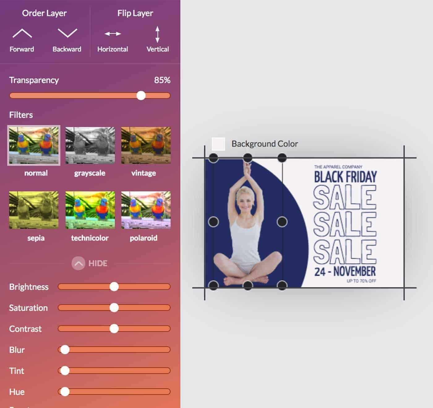 DesignWizard photo editor