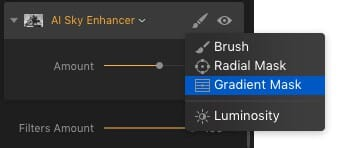 AI Sky Enhancer Fine Tune Brush and Masks