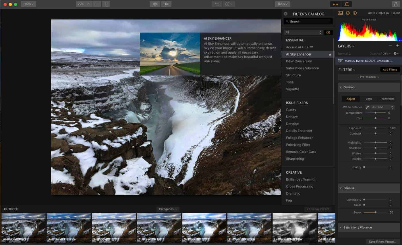 Luminar's New AI Sky Enhancer Filter