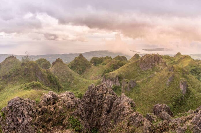 View from Osmena Peak near Oslob, Cebu, Philippines