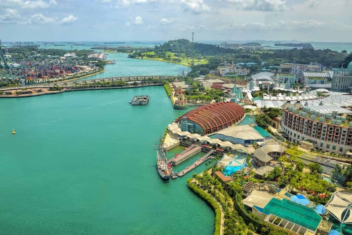 Sentosa island in Singapore, another great spot to photograph in Singapore