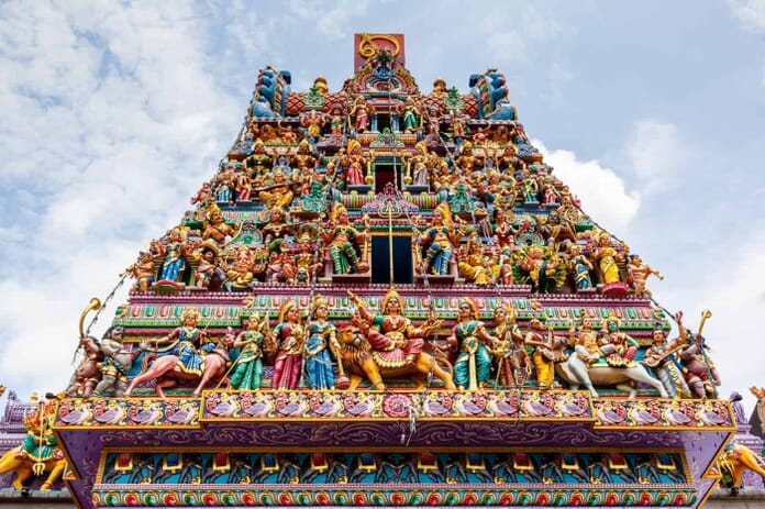 Sri Veeramakaliamman Temple in Little India, Singapore