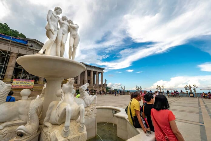 Temple of Leah in Cebu with People