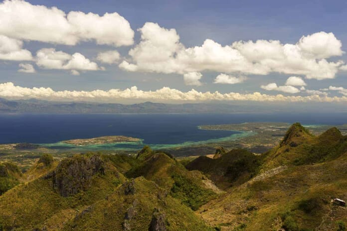 View from mountains Cebu Philippines
