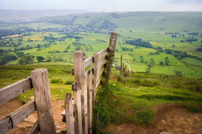 Original photo from the Peak District showing Mam Tor