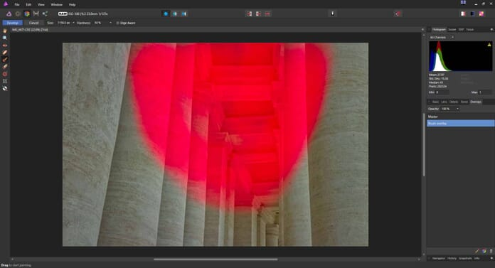 Affinity Photo Review - Brush overlay