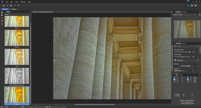 Affinity Photo review - Tone mapping