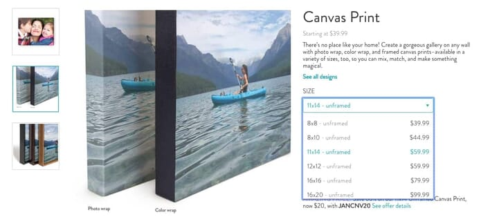 Ordering a Canvas Print on Snapfish is Easy