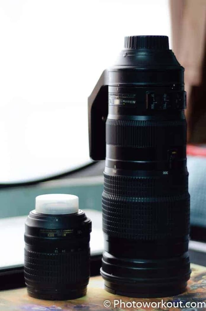 Nikkor 200-500mm and Nikkor 18-105mm comparison