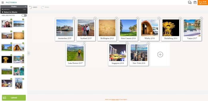 Photobox Valentines Gifts review - Adding text