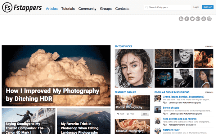 Fstsoppers Blog (best for lighting, gear reviews, and photography business)
