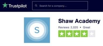 Shaw Academy TrustPilot Rating