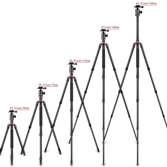 Tripods at different sizes
