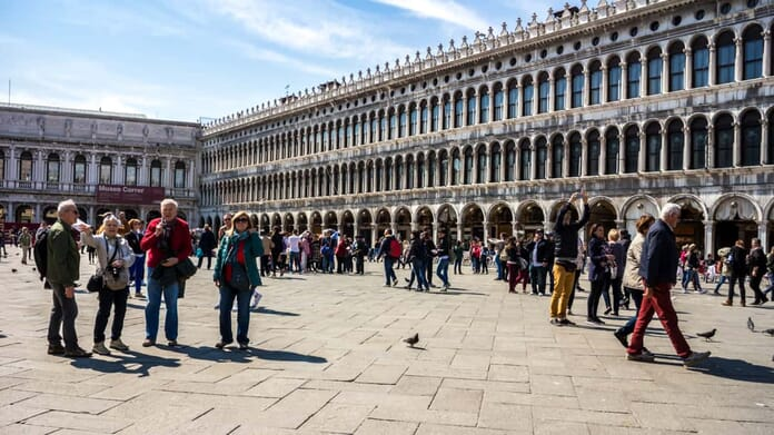St. Mark's Square is one of the most photographed places in venice