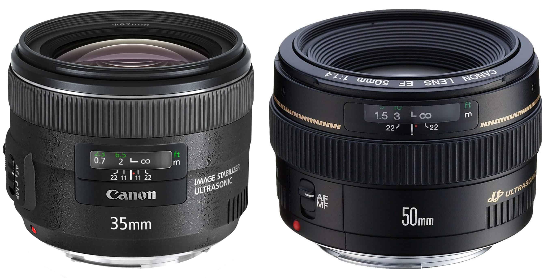 50mm Vs 35mm Prime Lenses Best Crop Full Frame Lenses
