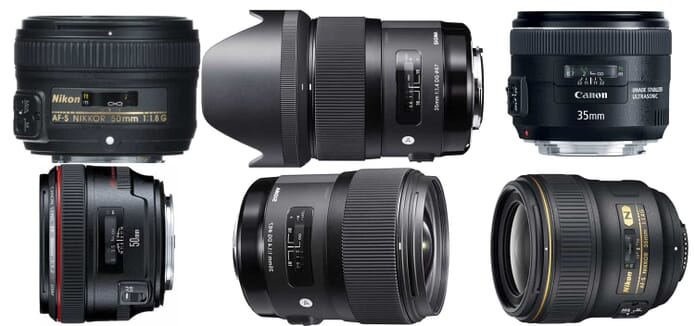 50mm vs 35mm lenses
