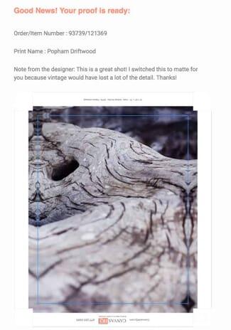 online proof canvas photo print