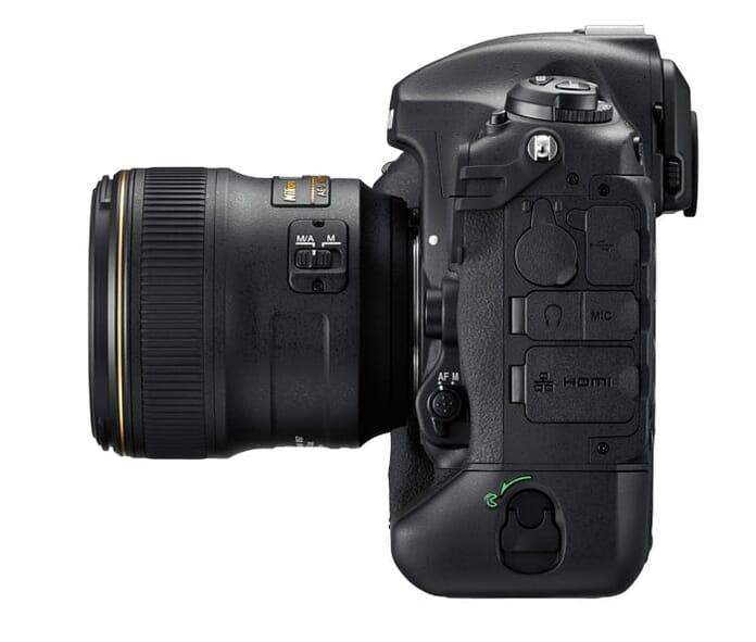 Nikon D5 side view