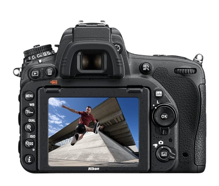 D750 back view