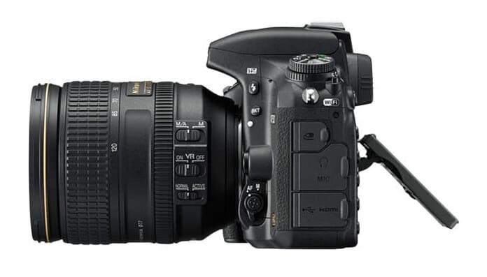 Nikon D750 tilted rear LCD