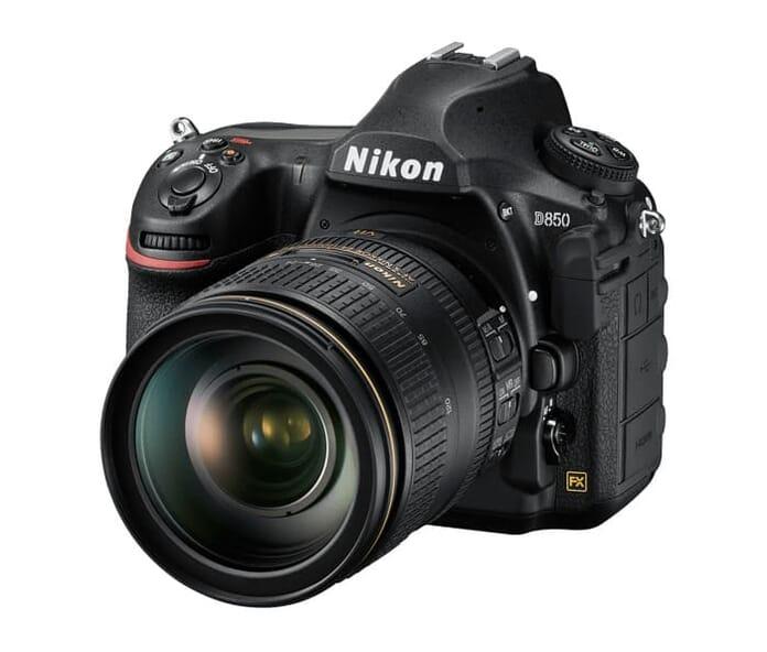 Nikon D850 front side view
