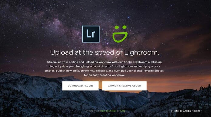 smugmug marketplace using adobe lightroom