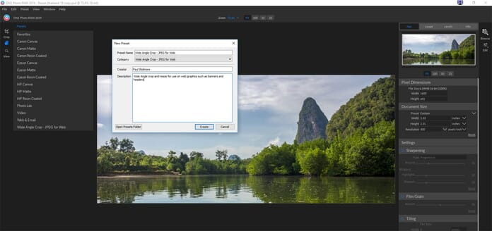 ON1 Resize 2018 Review - Custom presets