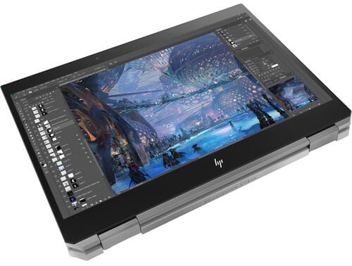 The HP ZBook x360 folding over