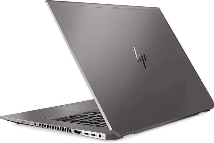 An hp laptop with a high resolution display