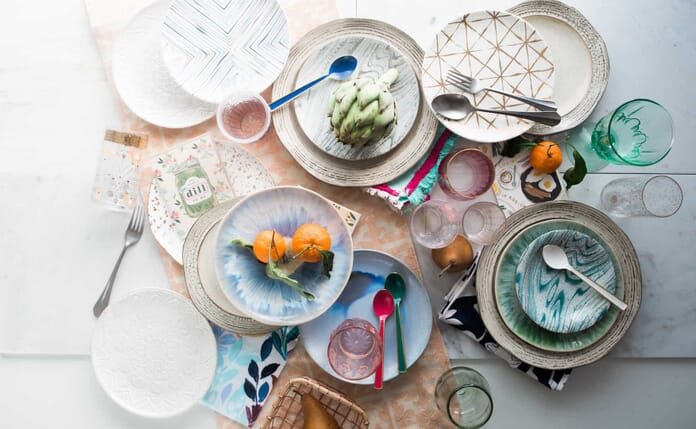 plages flat lay