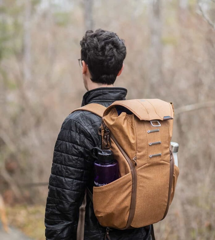 everyday backpack in the field