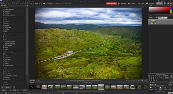 ACDSee Photo Studio Ultimate 2019 Review - Edit tab layout