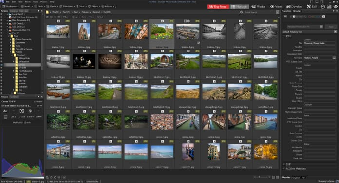 ACDSee Photo Studio Ultimate 2019 Review - Manage tab layout
