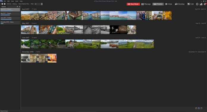 ACDSee Photo Studio Ultimate 2019 Review - Photos tab layout