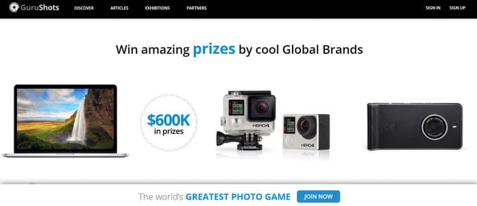 GuruShots prizes