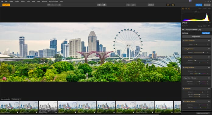 Automatic enhancements in luminar