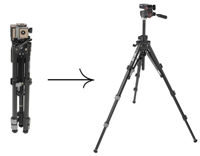 Slik U212 Size Comparison: compact to full size